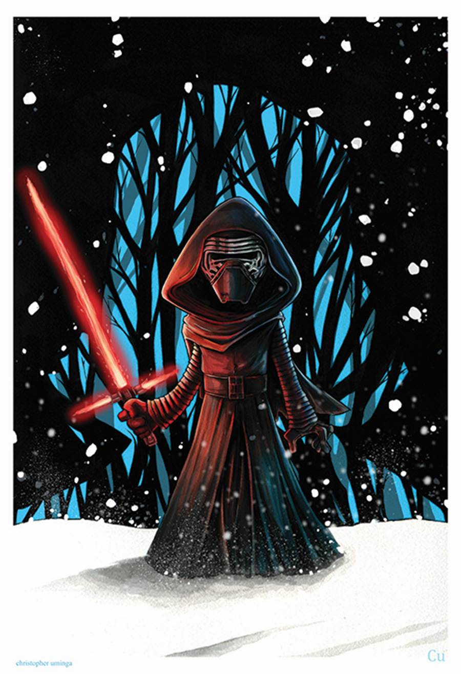 Kylo Ren dArt by Chris Uminga at April's Disneyland Resort Merchandise Event 2016