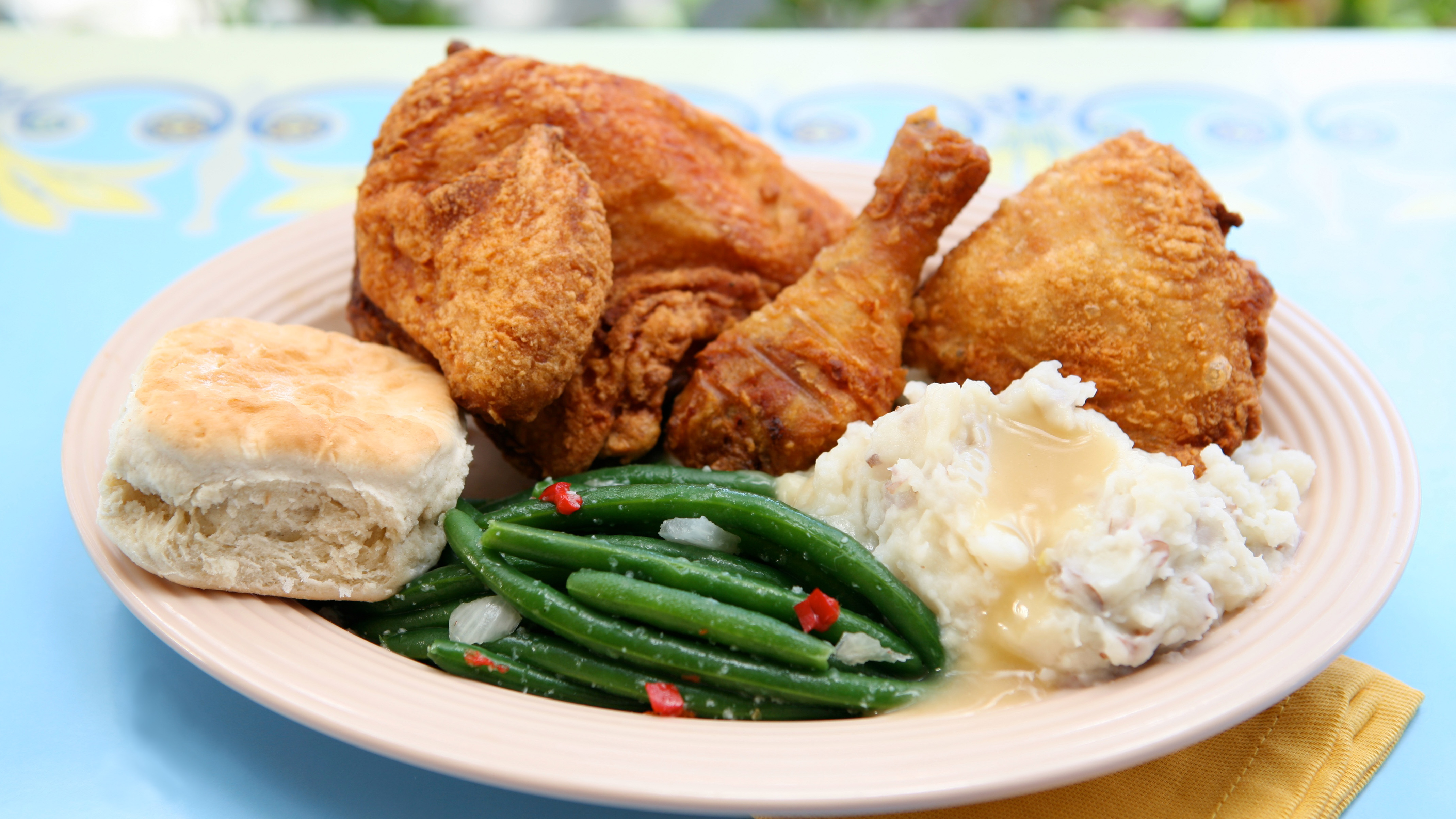 Fried Chicken, Plaza Inn
