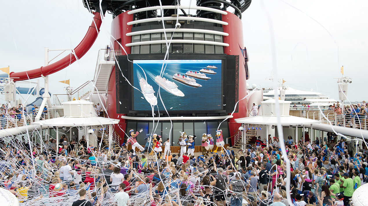Disney Cruise Line Guests Celebrate New Ship Announcements Onboard - Disney magic cruise ship