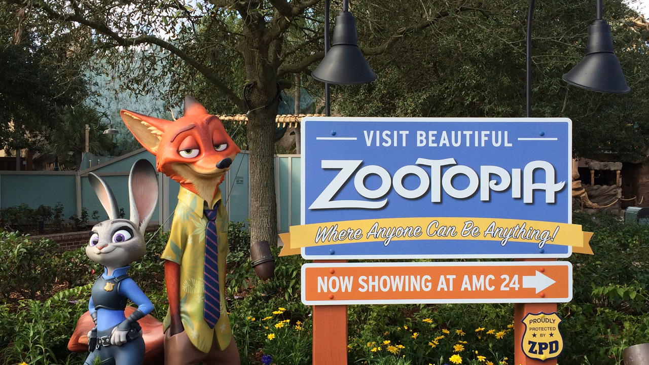 New Zootopia Display at Disney Springs