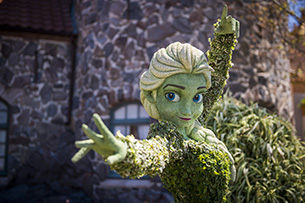Elsa Topiary at The Epcot International Flower & Garden Festival