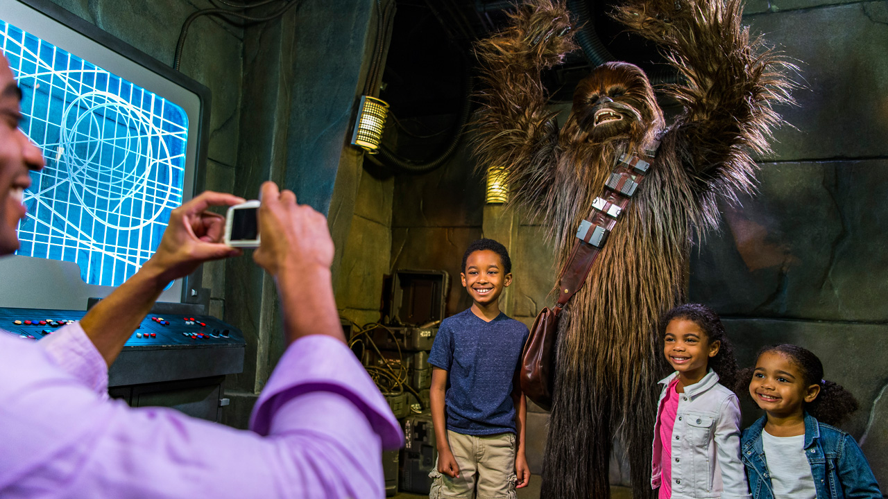 Image result for chewbacca meet greet disney