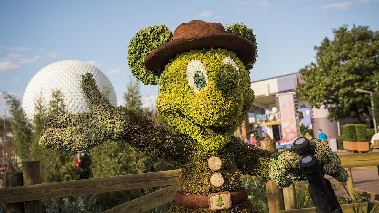 Epcot international flower garden festival celebrates earth day disney parks blog for Disney flower and garden festival