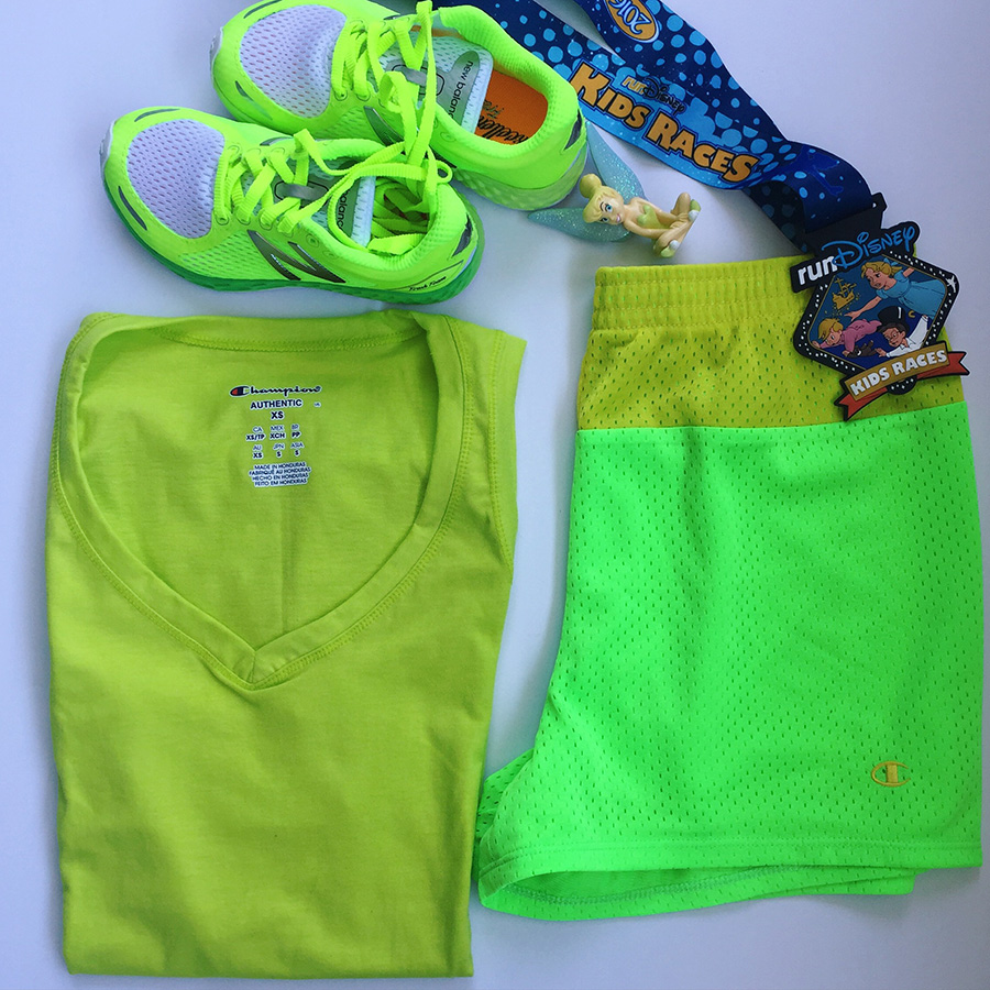 Tinker Bell Inspired Green Kids Outfit at the runDisney Tinker Bell Half Marathon