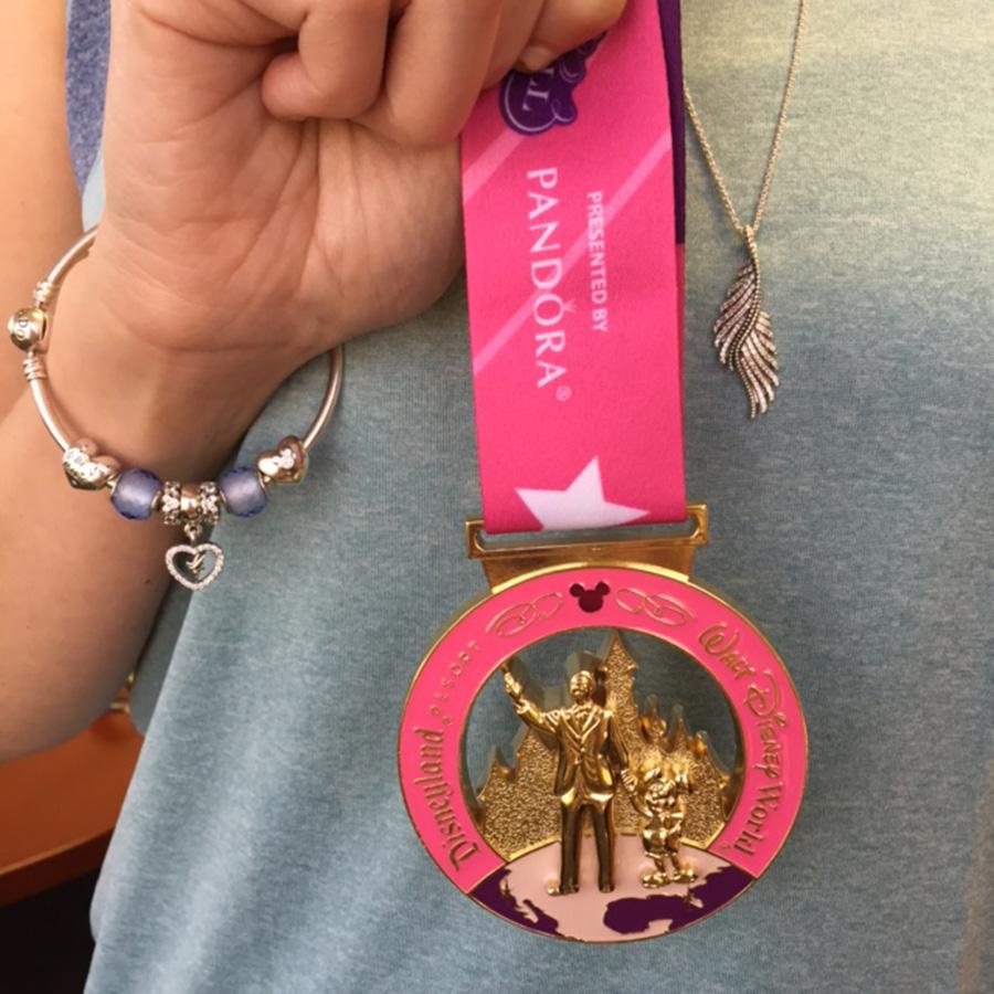 runDisney Tinker Bell Half Marathon Medal made by PANDORA Jewelry