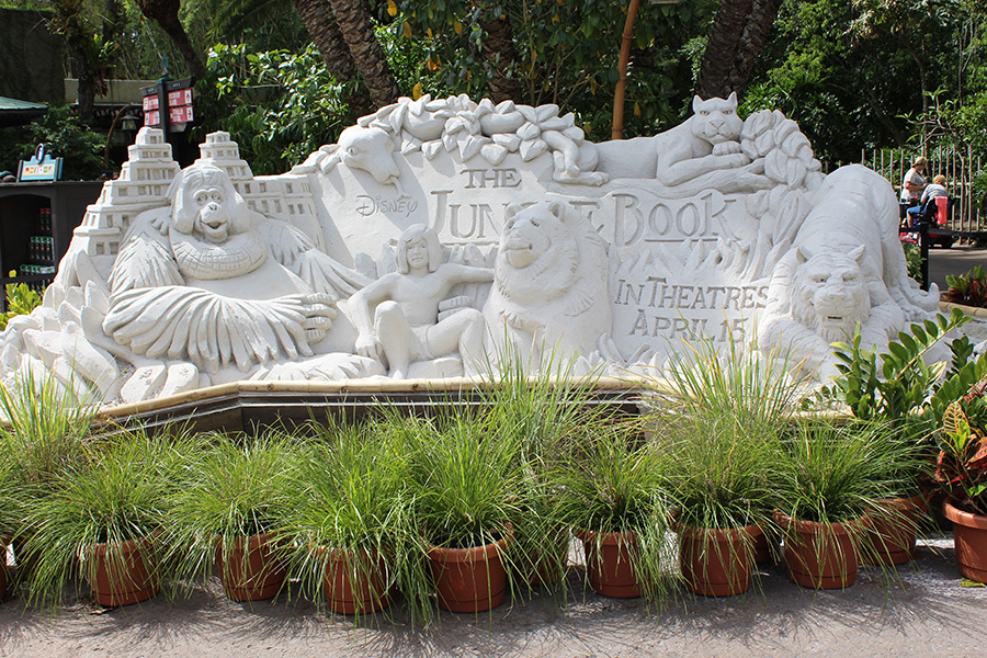 The Jungle Book Sand Sculpture at the Oasis at Disney's Animal Kingdom at Walt Disney World Resort
