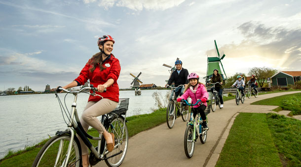 Biking during an Adventures by Disney River Cruise