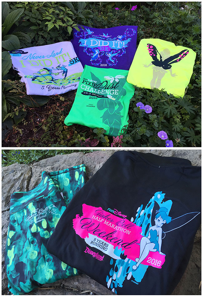 Tinker Bell half-marathon t-shirts various colors