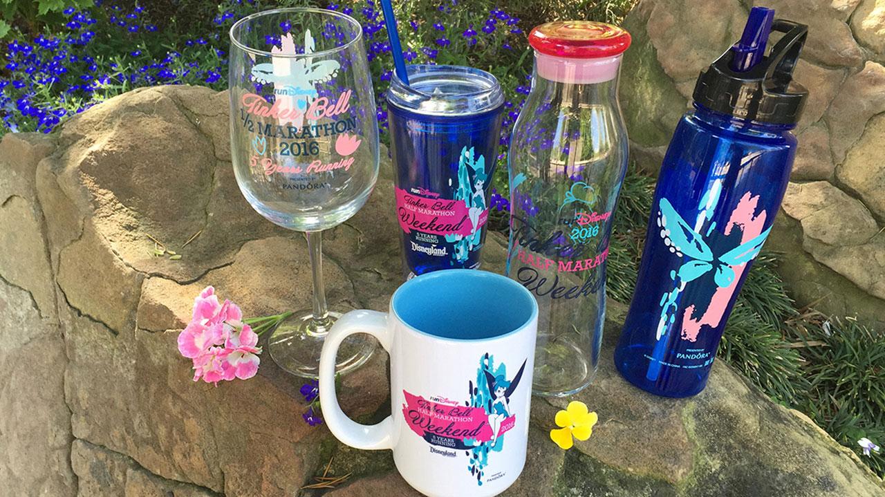 Glassware for Tinker Bell Half Marathon