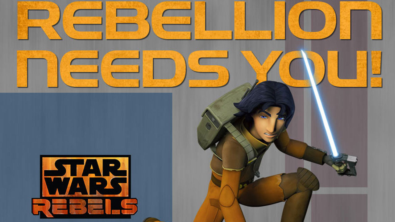 "Star Wars Cartoon, ""Rebellion Needs You"""