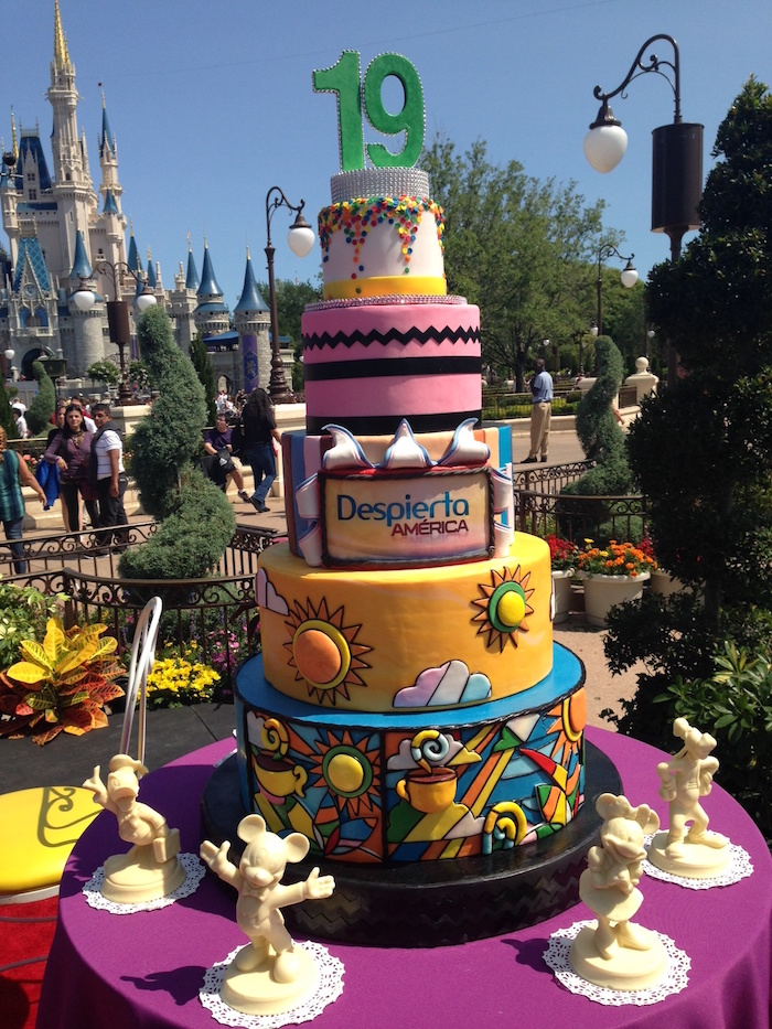 Five Tier Cake in honor of Univision's Despierta America 19th Anniversary