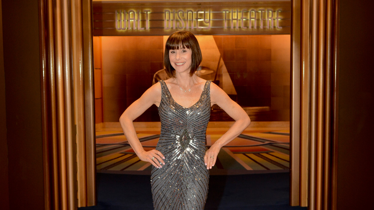 Susan Egan at the Walt Disney Theatre on the Disney Magic Cruiser