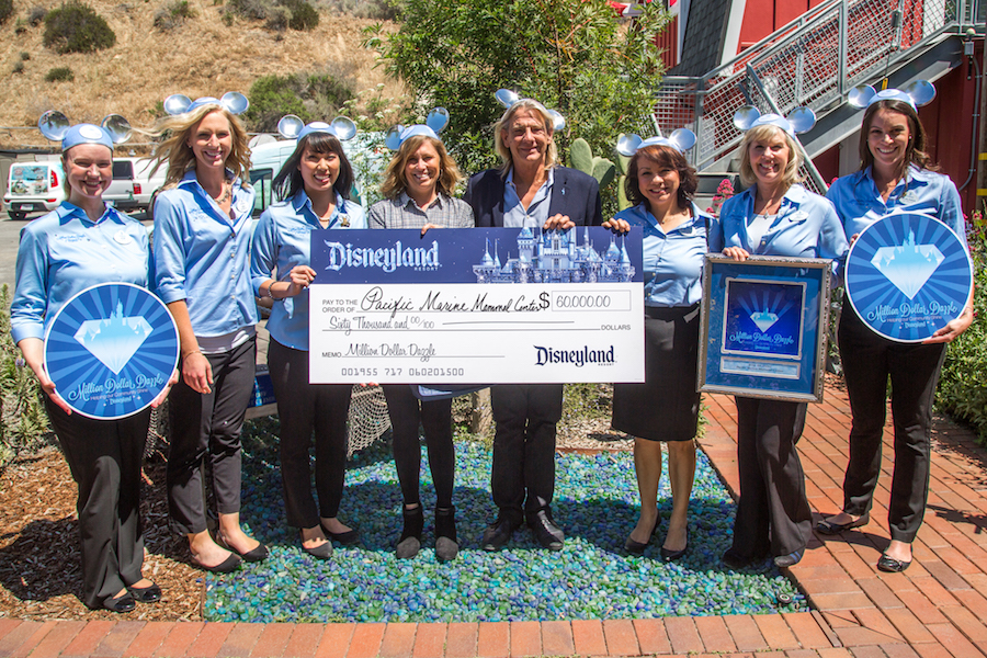 On Earth Day, Disneyland Resort surprised the Pacific Marine Mammal Center in Laguna Beach, Calif., with a $60,000 donation as part of its Million Dollar Dazzle philanthropic program