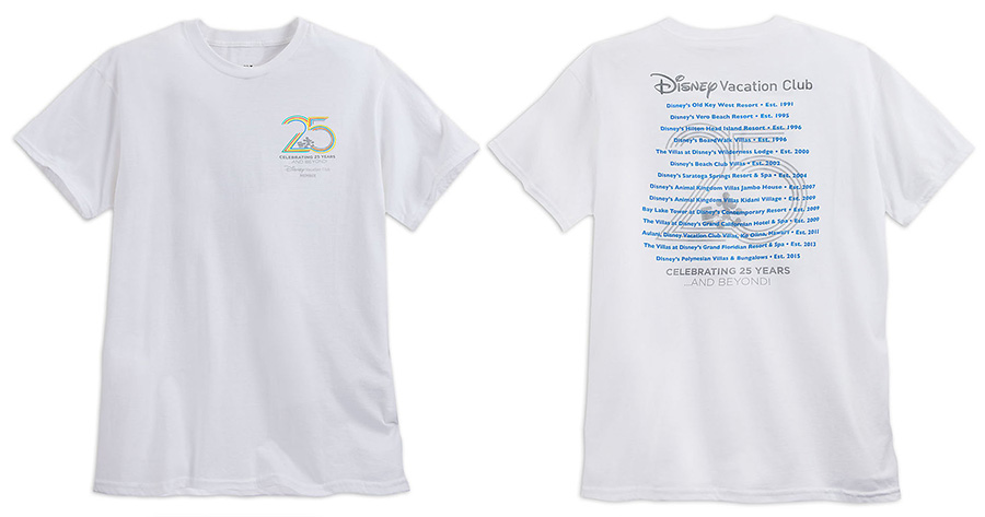 Disney Vacation Club 25th Anniversary T-shirts
