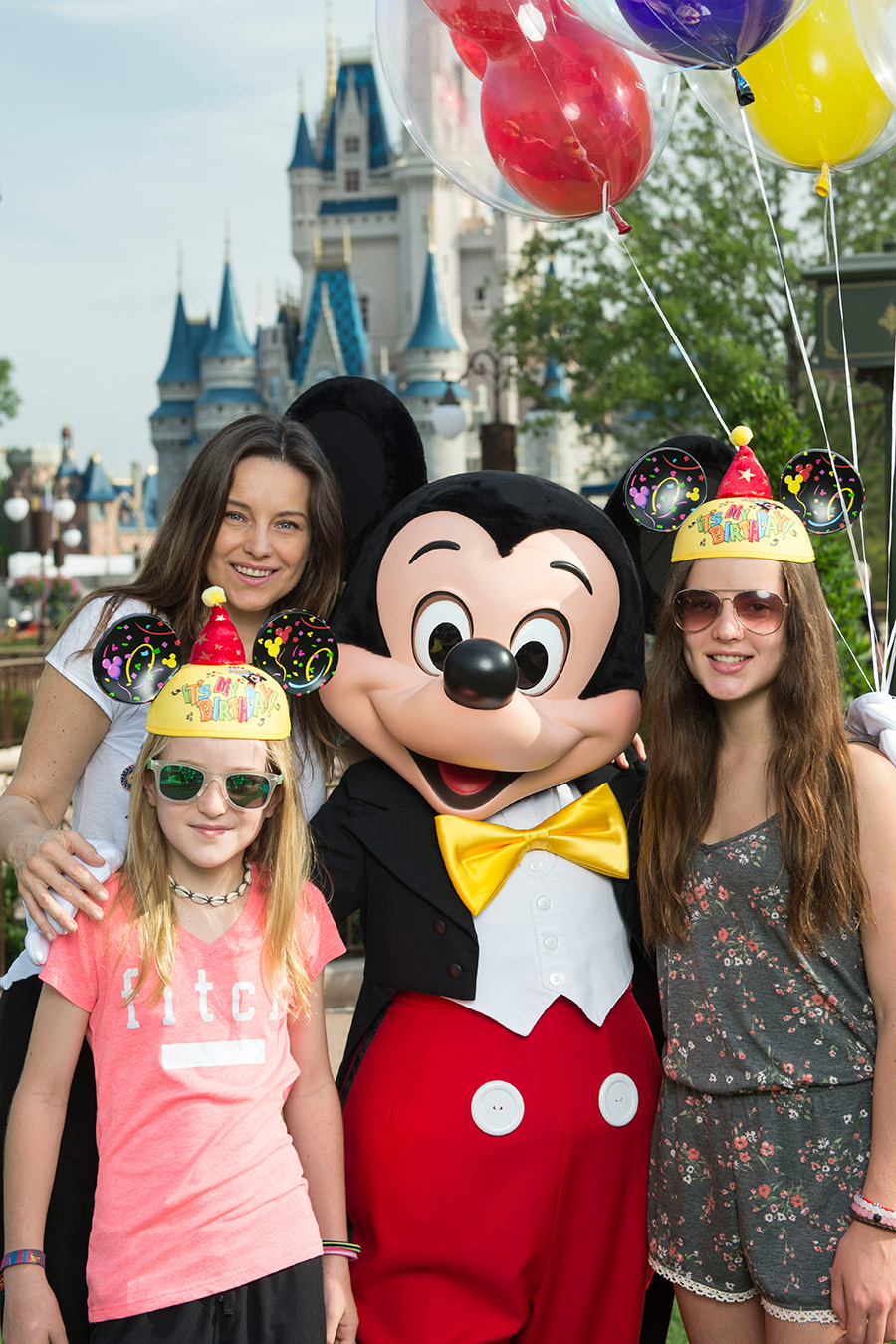 Dominika Paleta with her Daughters at Magic Kingdom at Walt Disney World Resort