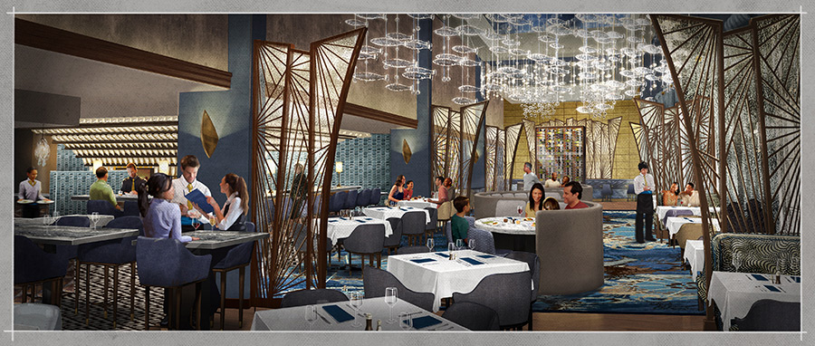 Rendering of the Flying Fish Restaurant at Disney's Boardwalk at Walt Disney World Resort
