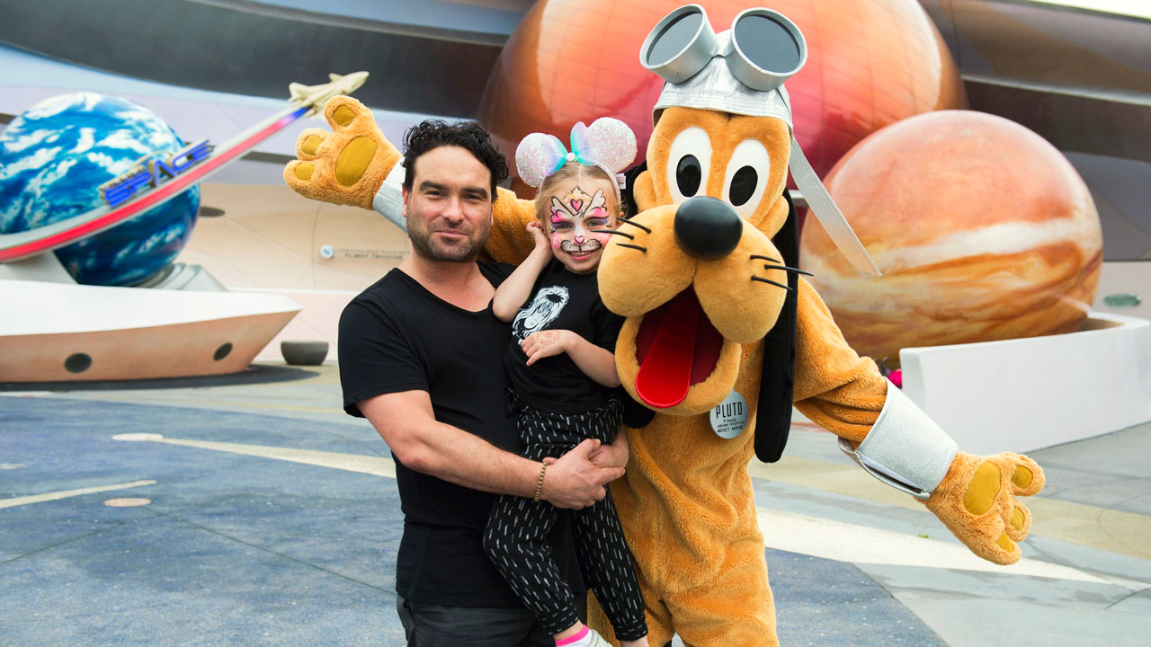 Actor Johnny Galecki Visits Disney Parks