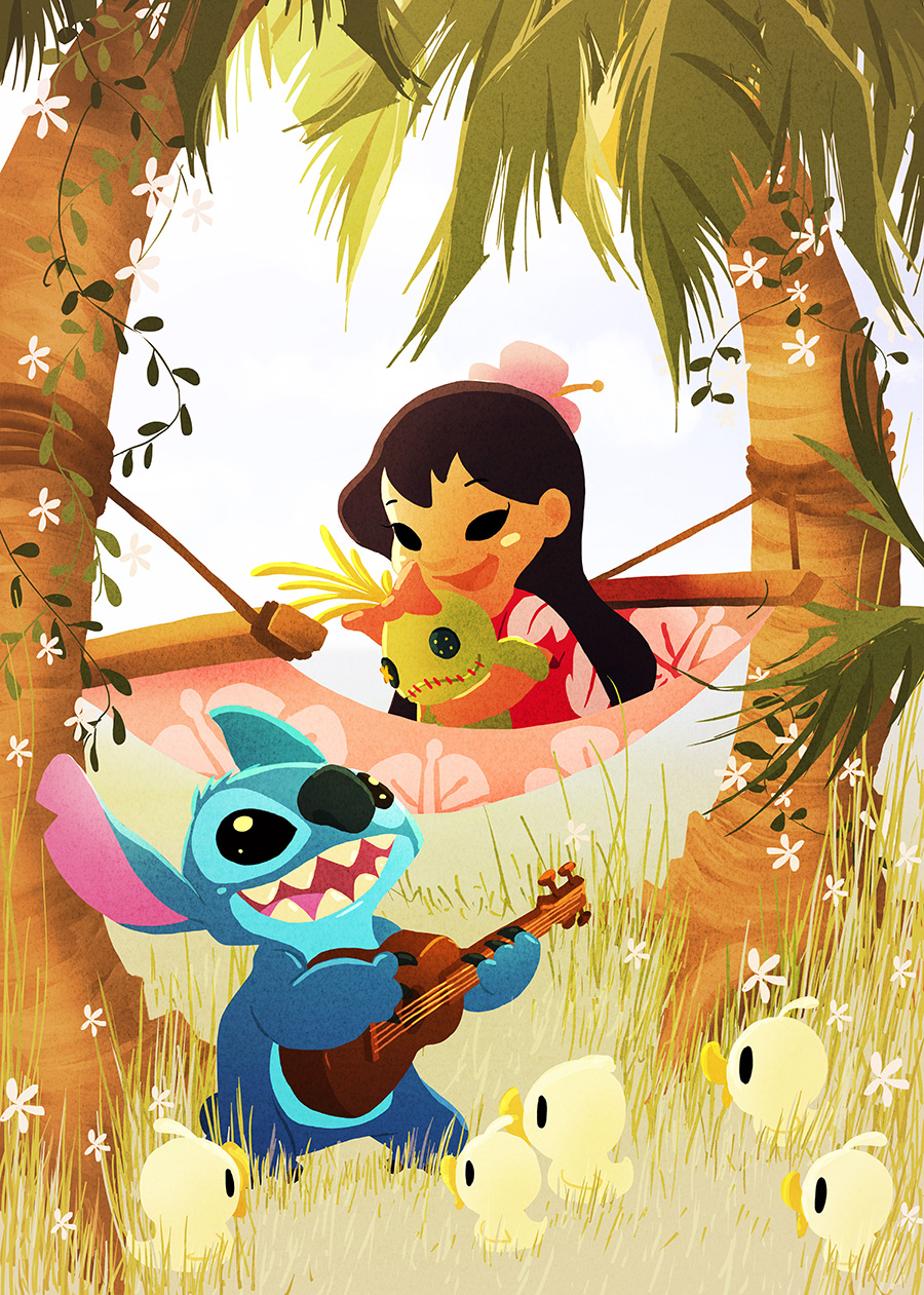 Lilo & Stitch Art by Eunjung June Kim