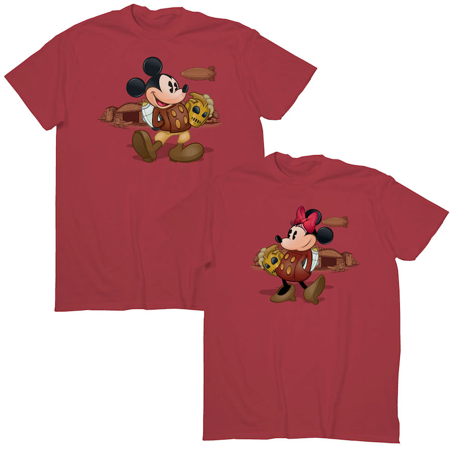 Hanes Nano-Ts feature Mickey and Minnie Mouse dressed in outfits inspired by 'The Rocketeer'