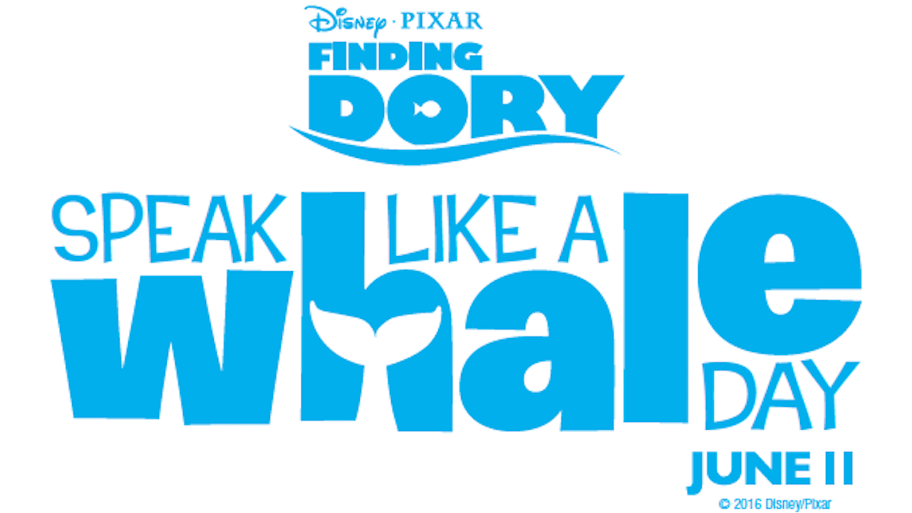 'Speak Like A Whale Day' This June 11 at Disney Parks