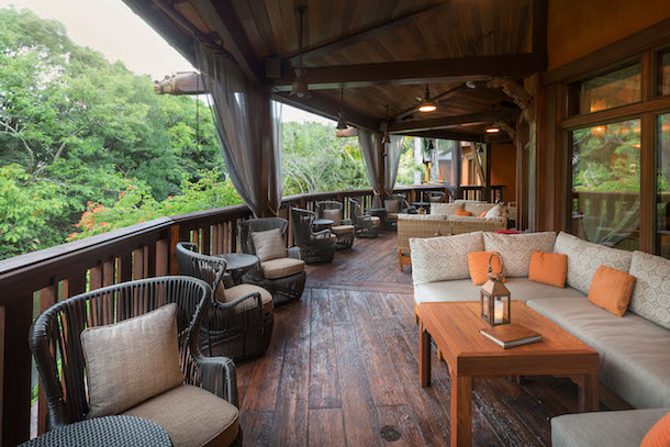 The Porch of Nomad Lounge at Disney's Animal Kingdom