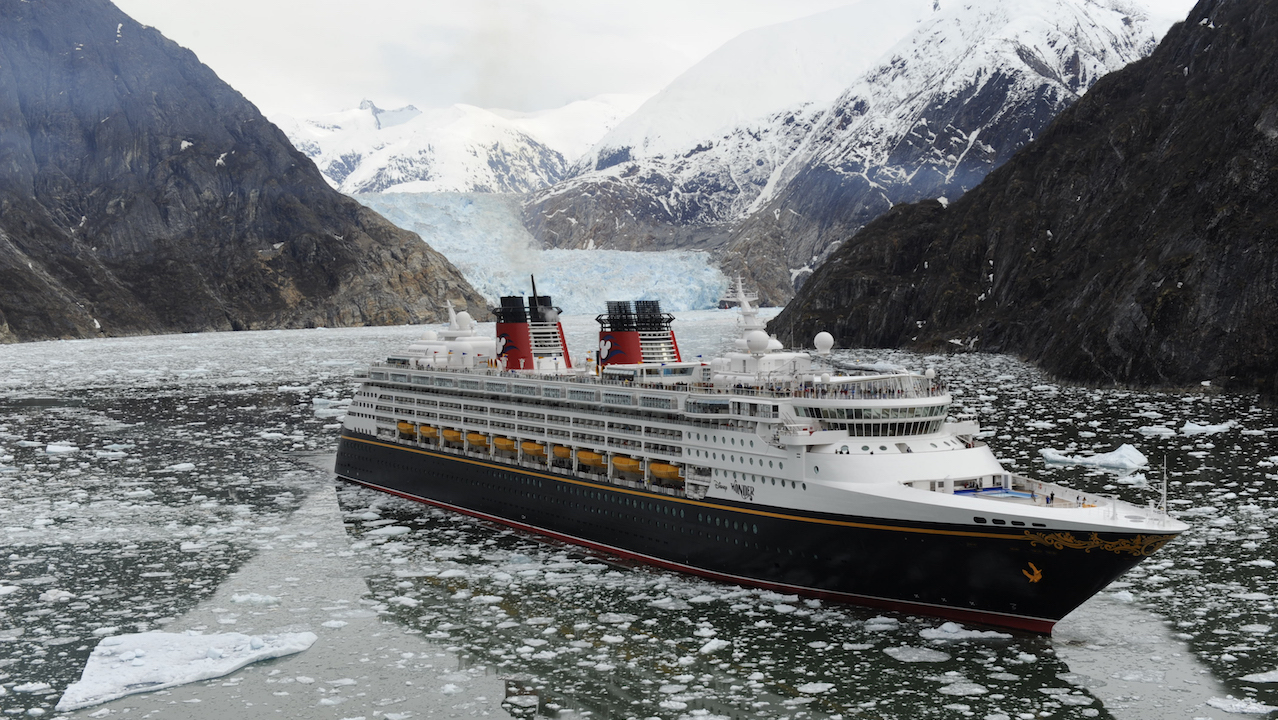 Disney Cruise Line Visits Tracy Arm Fjord
