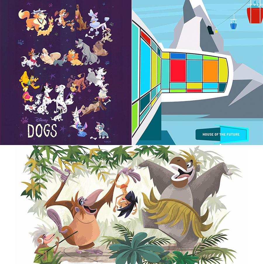 Disney WonderGround Gallery Mickey /& Minnie Mouse Magnet Eunjung June Kim