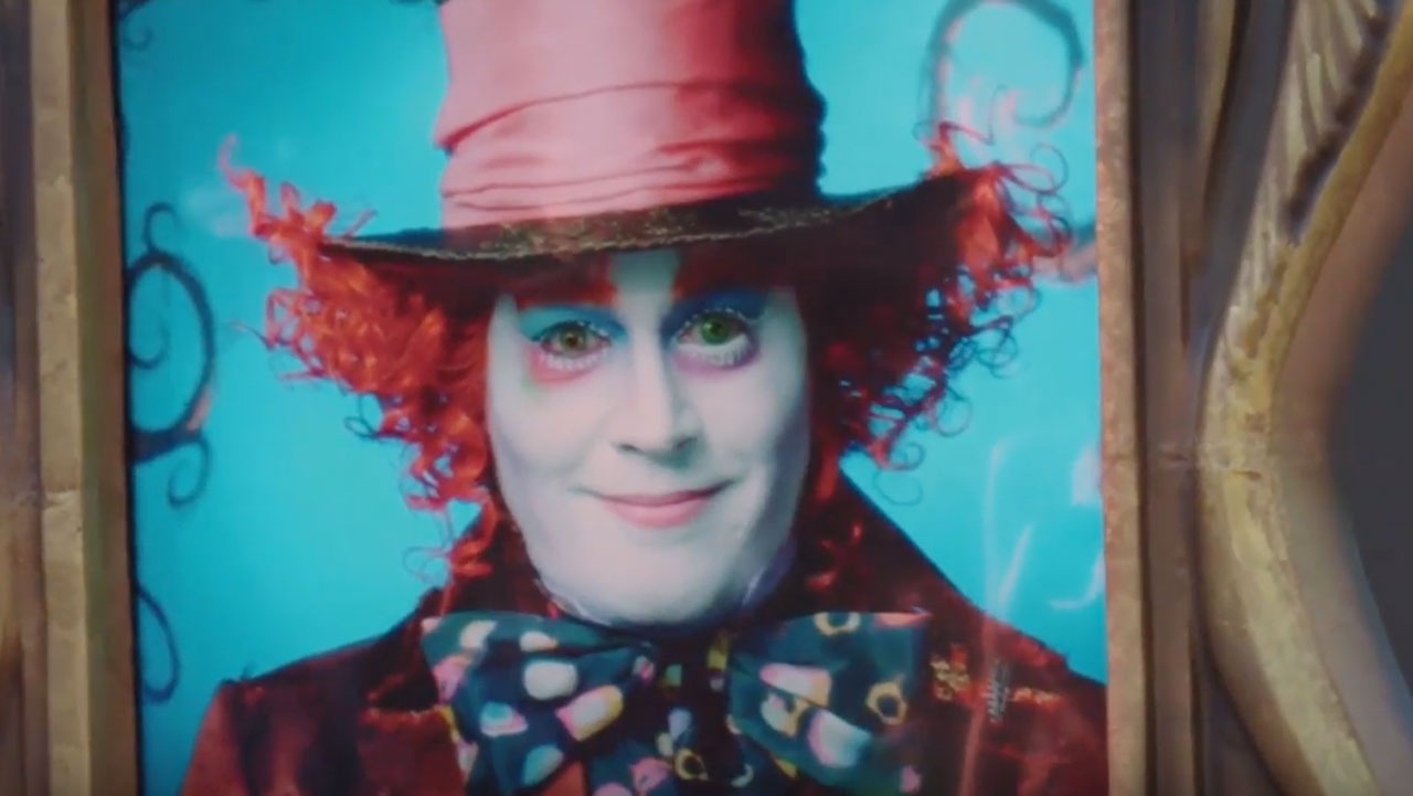 Johnny Depp Surprises Disneyland Resort Guests as the Mad Hatter