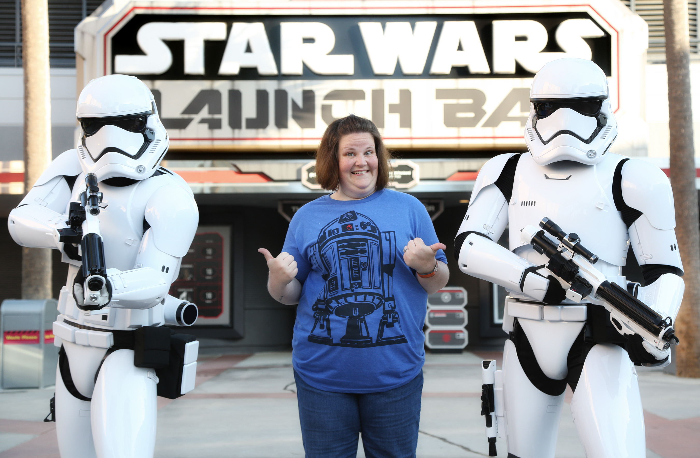 Chewbacca Mom meets Stormtroopers
