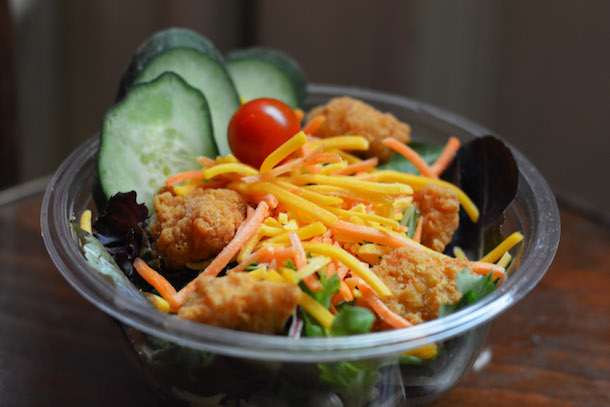 Crispy Chicken Mixed Green Salad from The Golden Horseshoe