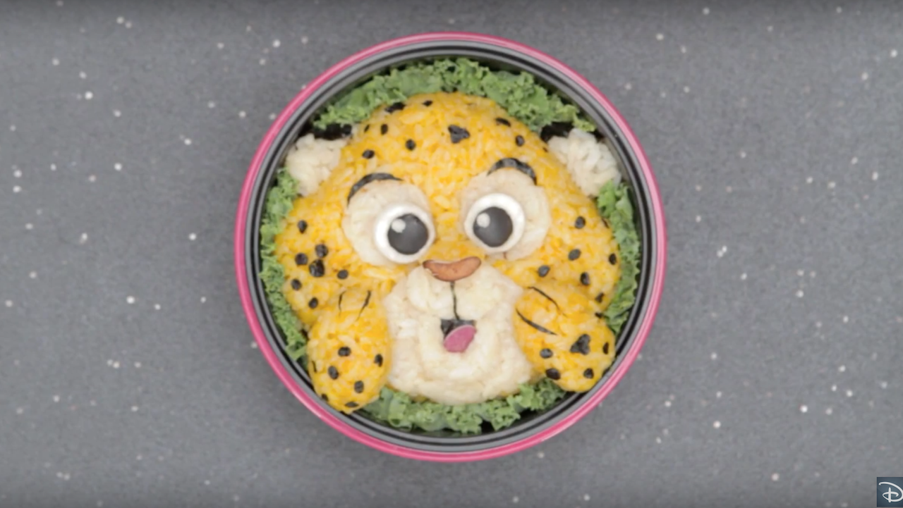 Bento Box Featuring Clawhauser from Disney's 'Zootopia'