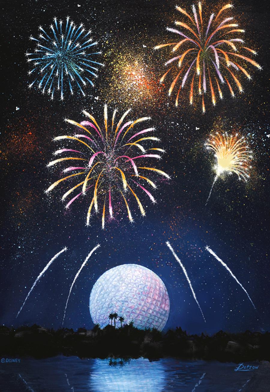 Epcot Fireworks Artwork