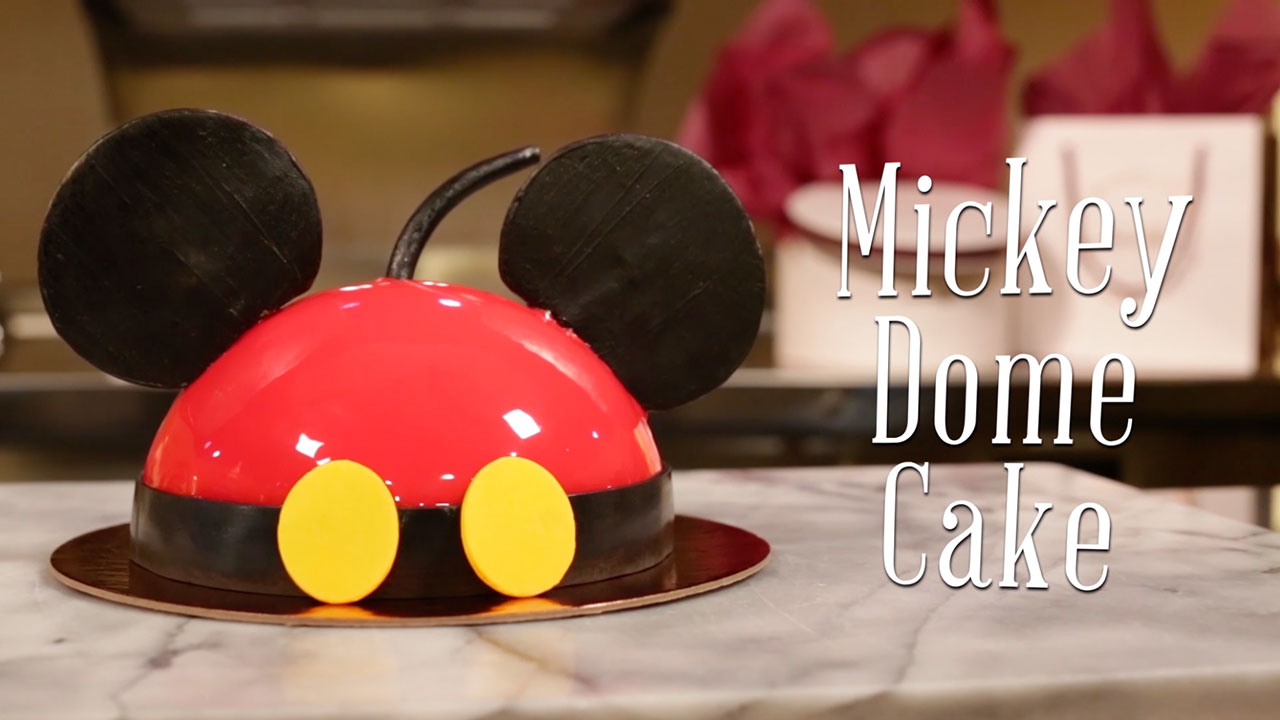 VIDEO Mickey Dome Cake at Amorettes Patisserie Disney Parks Blog