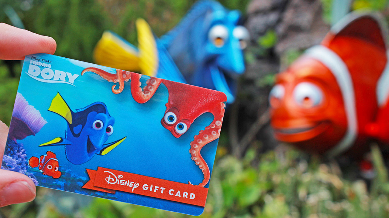 "Have you seen her?! New ""Finding Dory"" Disney Gift Card Available Online and at Disney Parks"