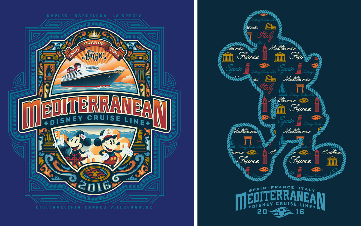 Artwork for Itineraries Created by Disney Design Group