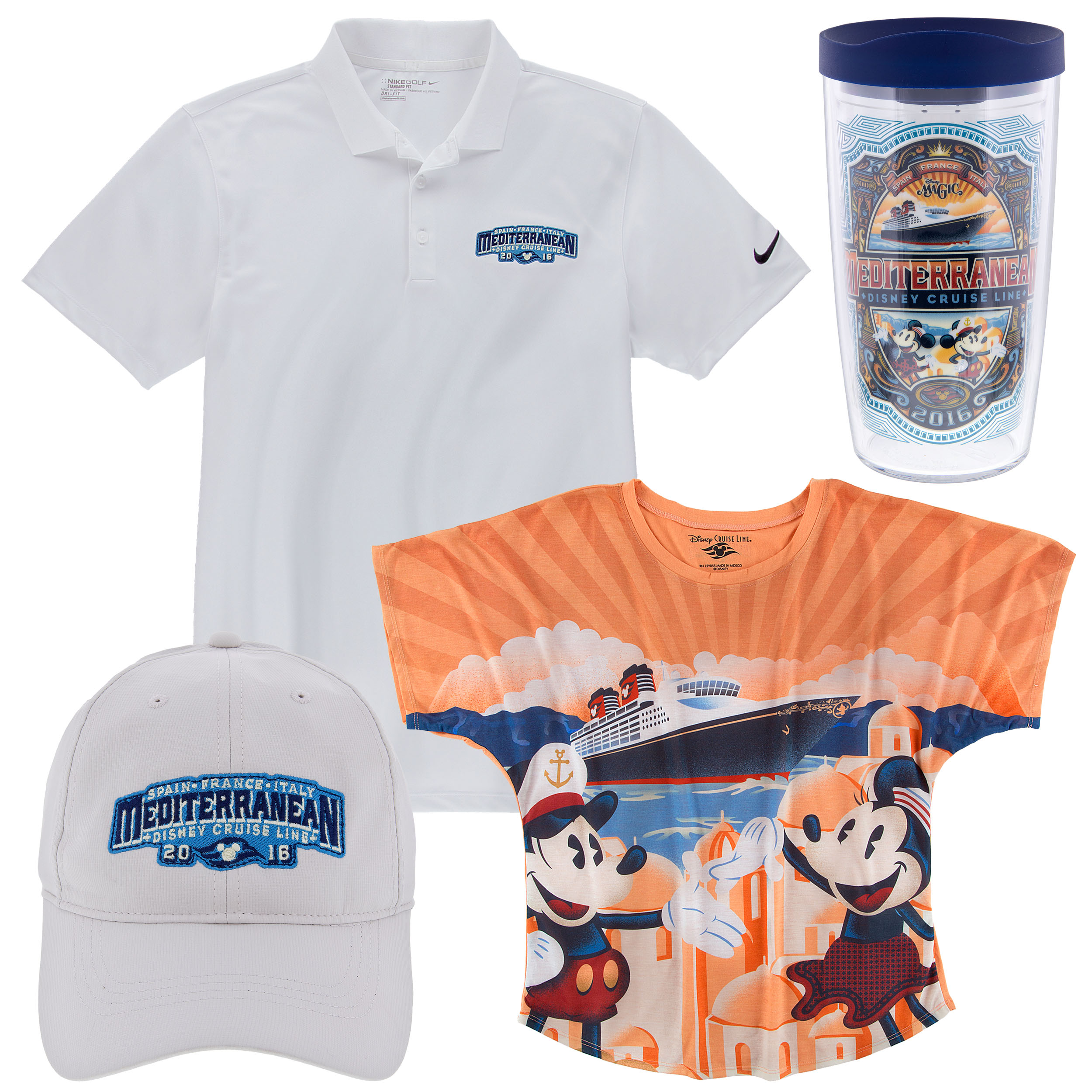 he Mediterranean Season Collection Polo Shirt, Tumbler, Hat and Tee