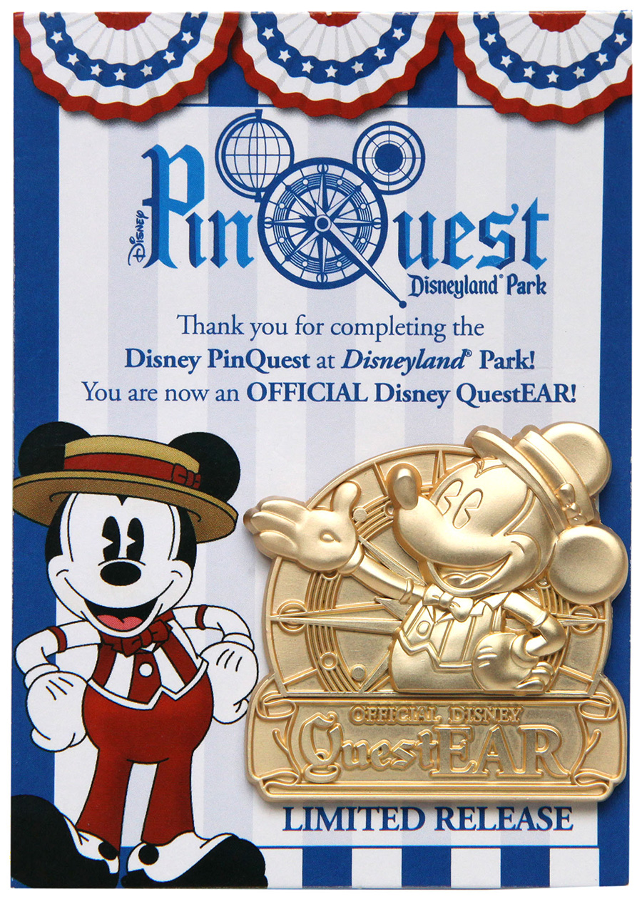 Disneyland Resort PinQuest Completer Pin