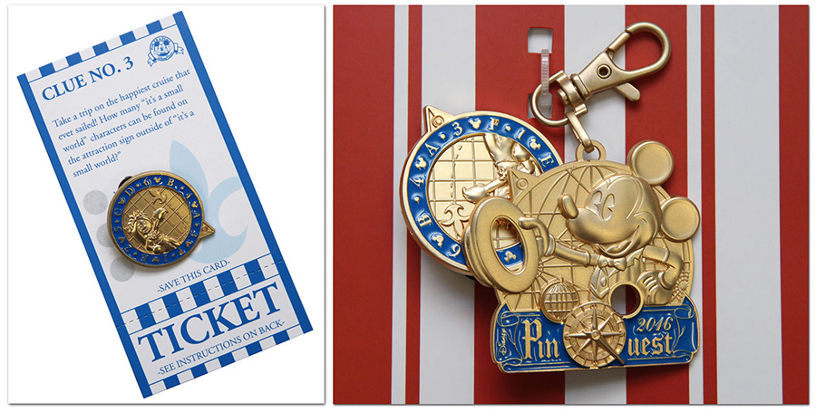 Disneyland Resort PinQuest Clue Card Medal Pin
