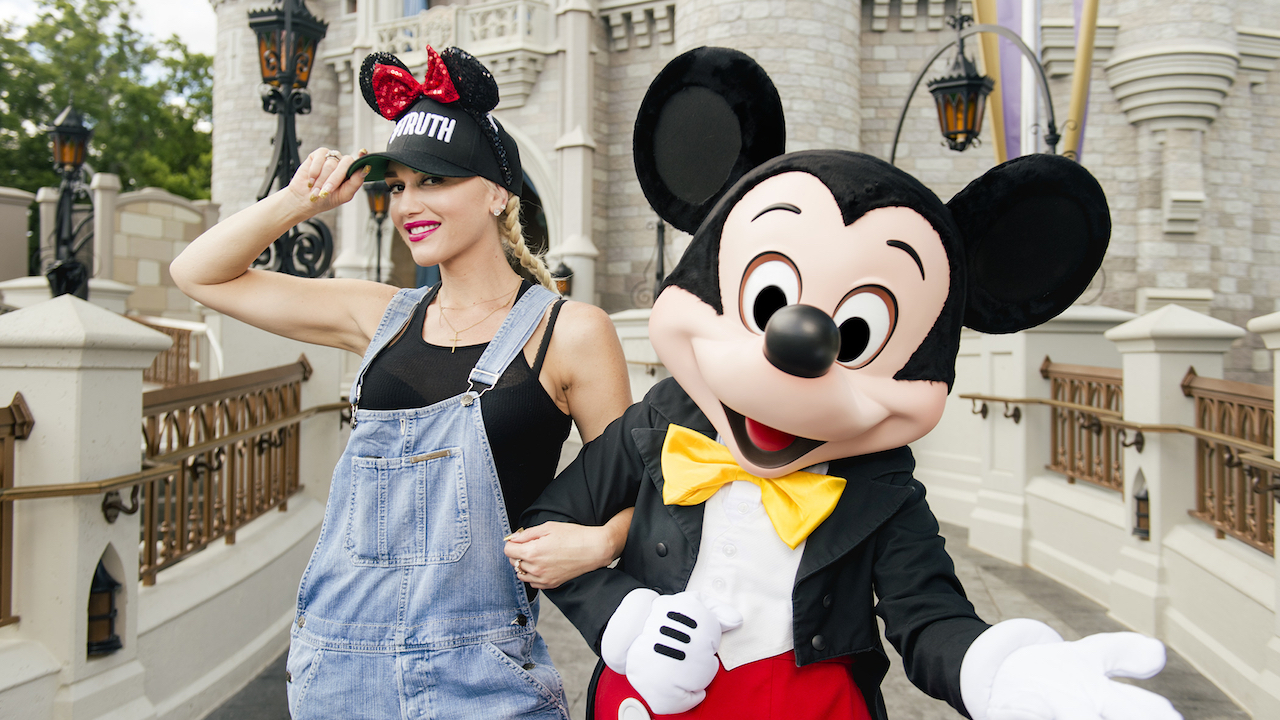 Singer Gwen Stefani Shows Mickey Some Love At Walt Disney World Resort
