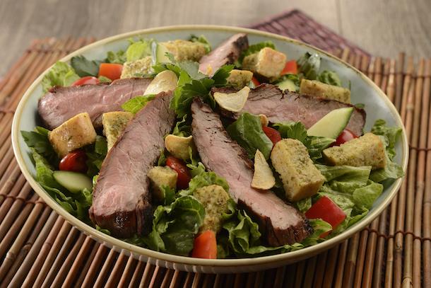 'A Lot at Steak' Salad from Jungle Skipper Canteen's at Magic Kingdom Park
