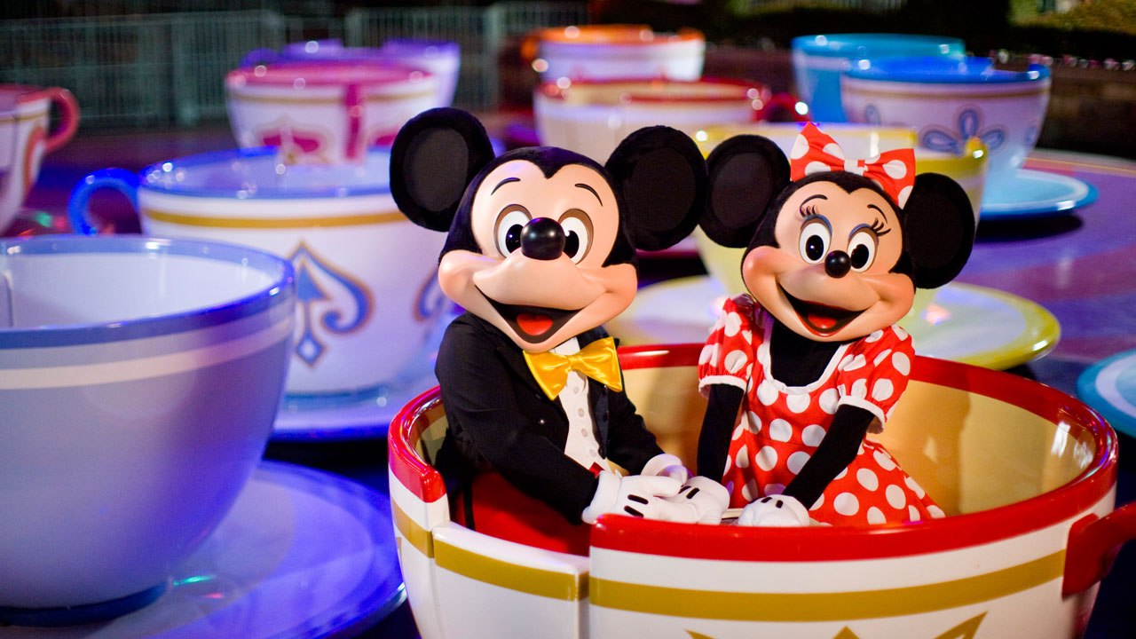 Mickey and Minnie Mouse at the Disneyland Resort