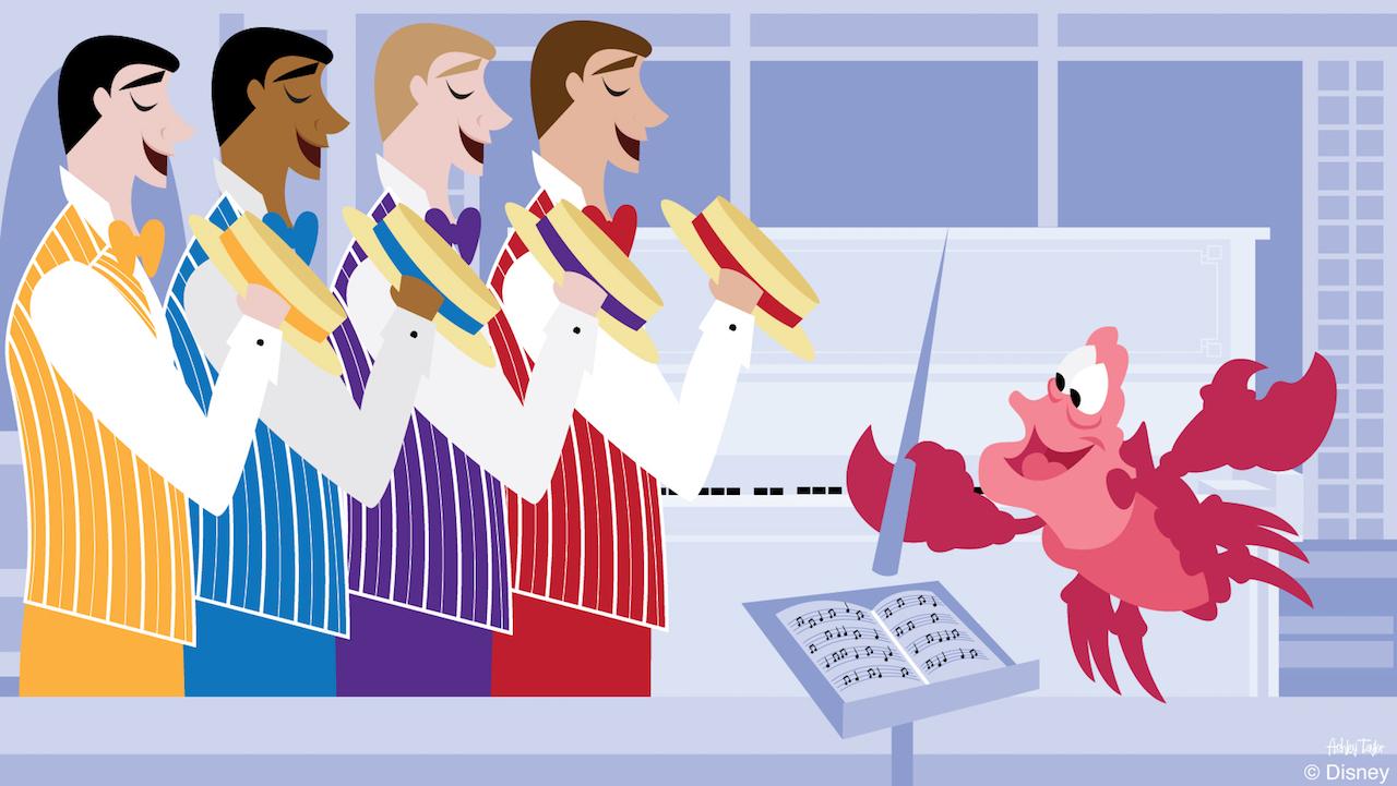 Disney Doodle: Sebastian Leads A 'Dapper' Concert