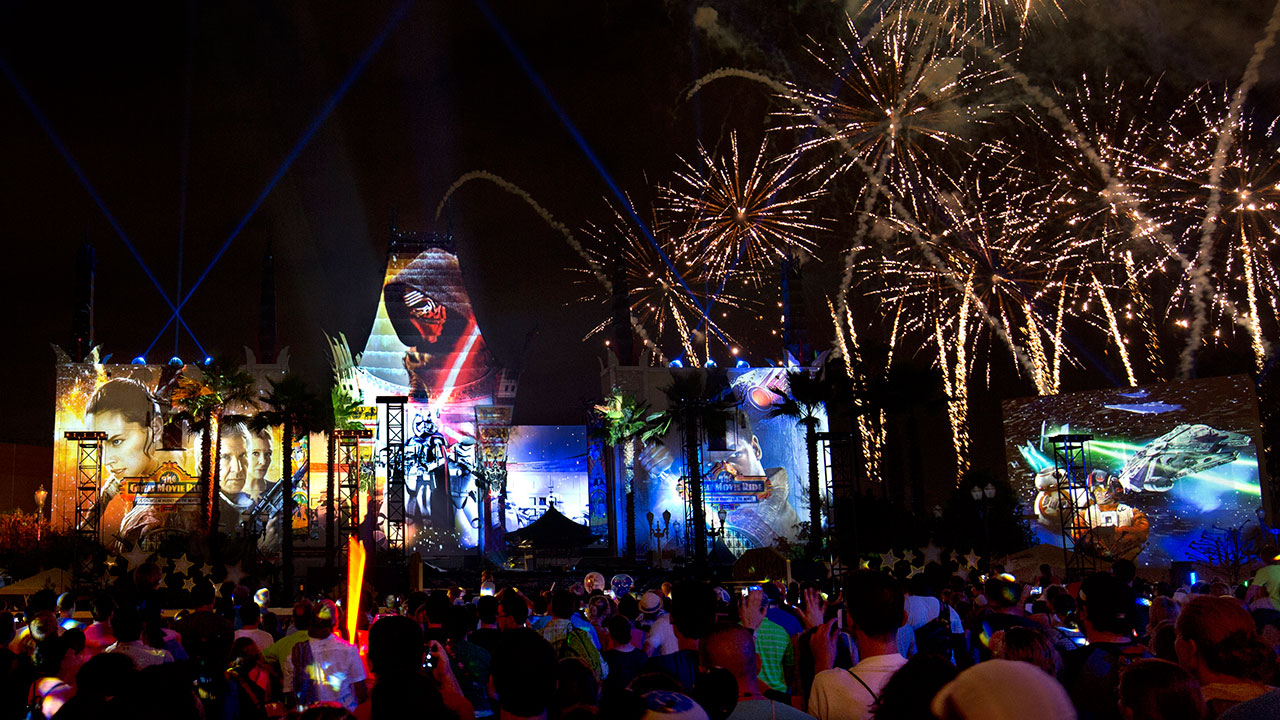 #DisneyParksLIVE: Watch 'Star Wars: A Galactic Spectacular' Live at 9:20 p.m. ET