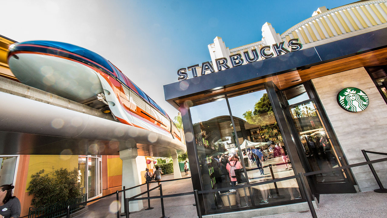 Downtown Disney District at the Disneyland Resort Wakes Up to a New Starbucks