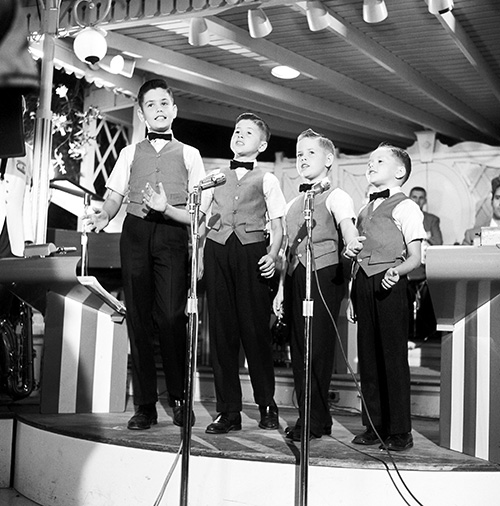 The Osmond Brothers Performing at the Carnation Plaza Gardens at Disneyland Park