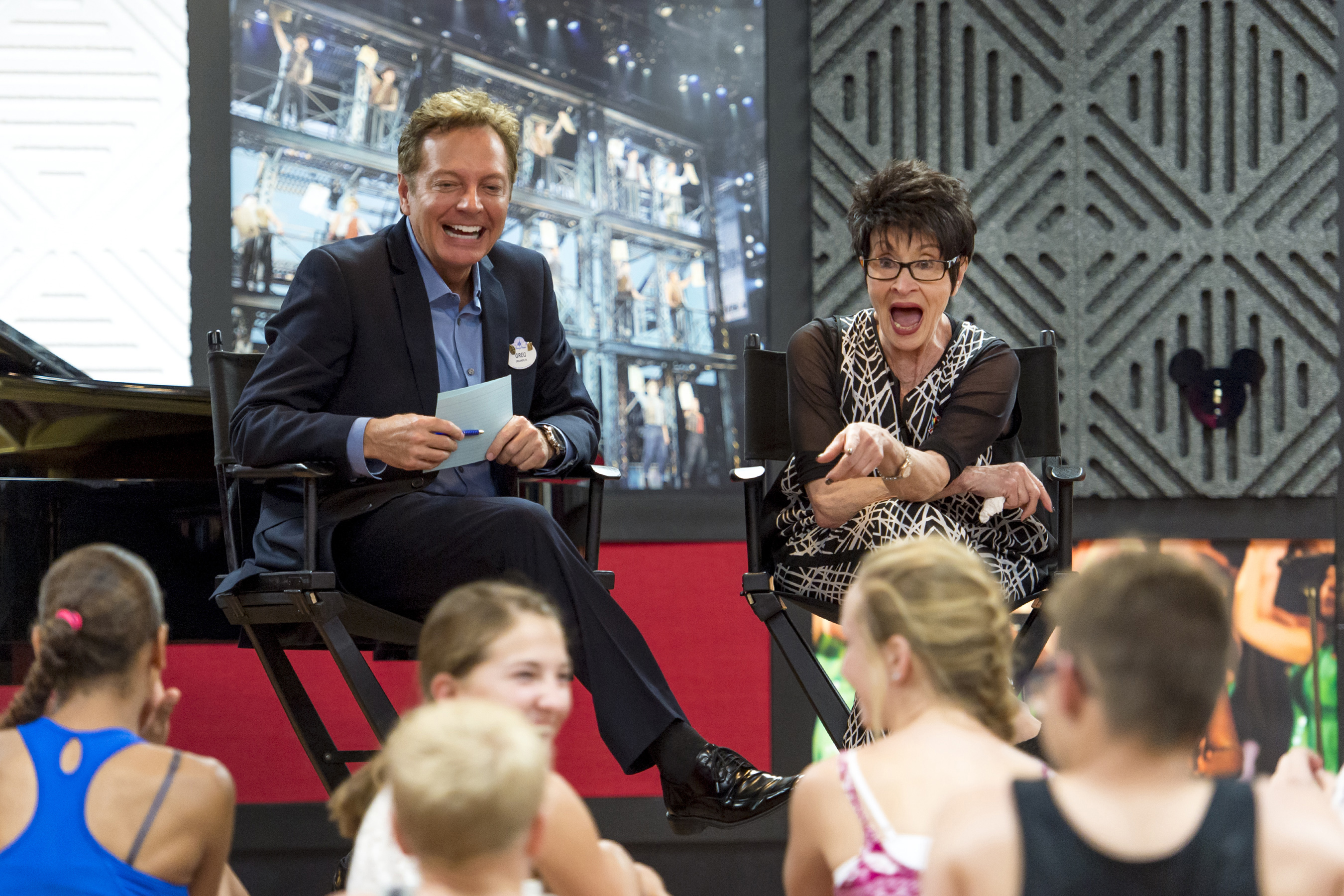 Chita Rivera and Greg Bell Discussing Rivera's Musical Career