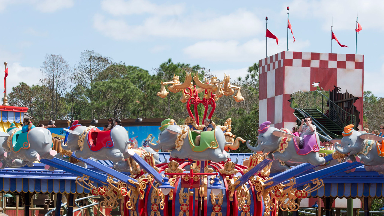 Dumbo the Flying Elephant attraction at Magic Kingdom