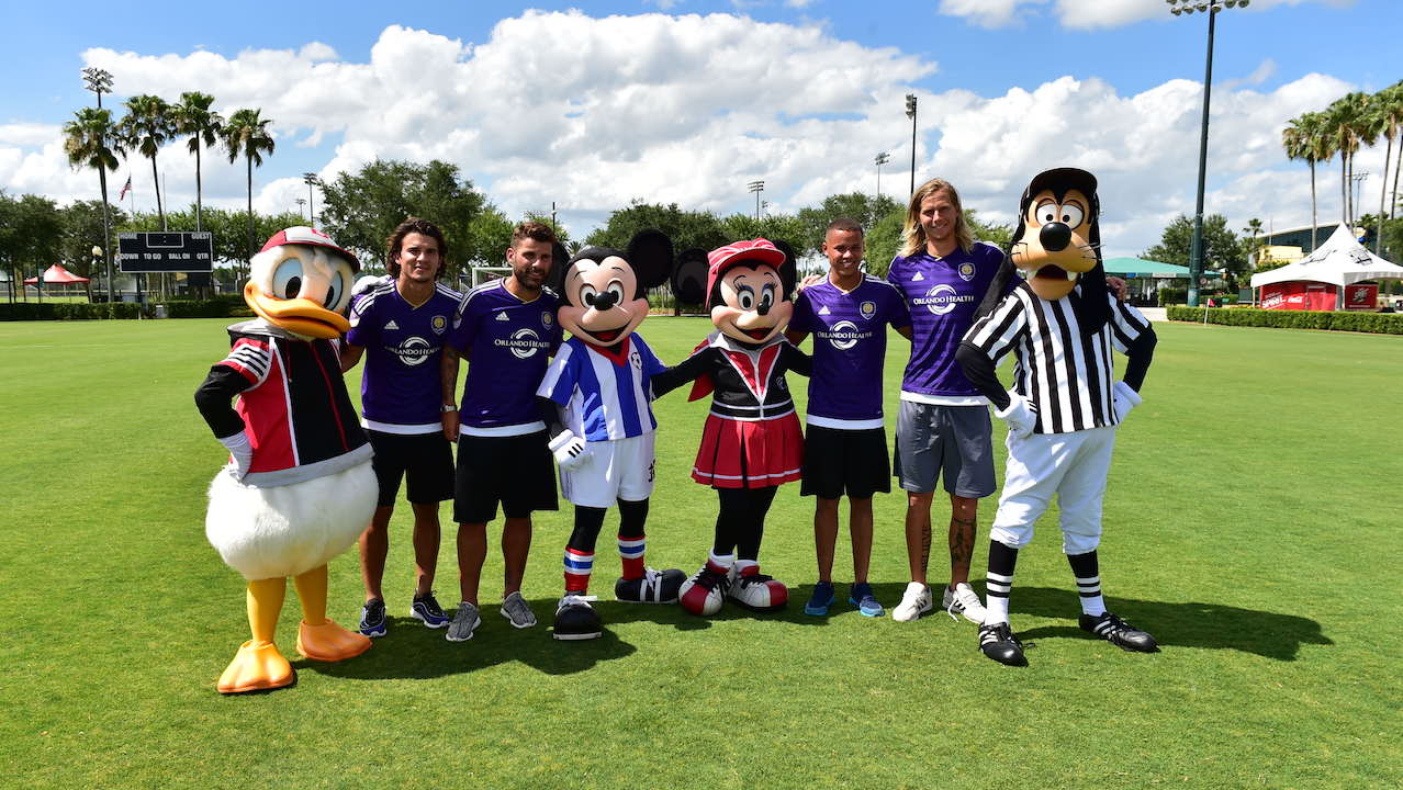 Orlando City Players Take on Mickey Mouse at ESPN Wide World of Sports Complex