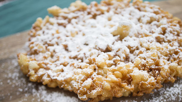 Funnel Cakes from Oasis Canteen at Disney's Hollywood Studios