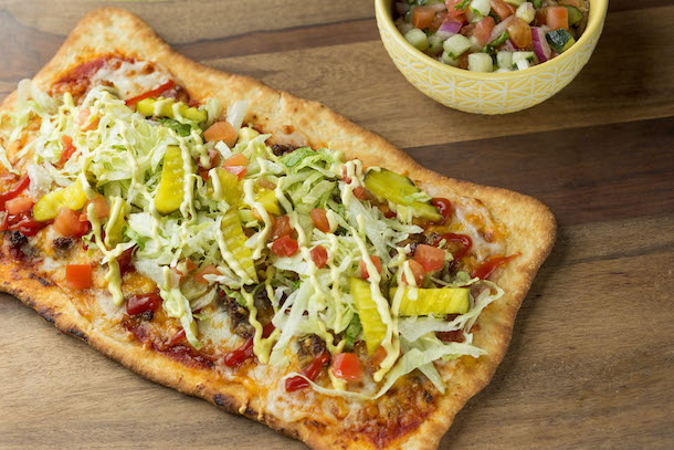 Cheeseburger Flatbread from Pizzafari at Disney's Animal Kingdom